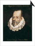 Miguel De Cervantes Saavedra Prints by Juan De Jauregui Y Aguilar