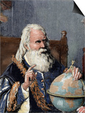 Galileo Galilei (1564-1642). Physicist, Italian Mathematician and Astronomer Poster by  Prisma Archivo