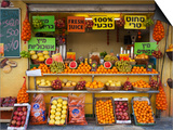 Downtown Fruit Stand, Tel Aviv, Israel Prints by Walter Bibikow