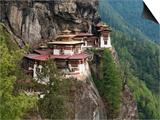 Tiger's Nest, Bhutan Posters by Dennis Kirkland