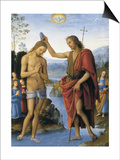 The Baptism of Christ Print by Pietro Perugino