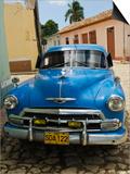 Antique 1950S Car, UNESCO World Heritage Site, Trinidad, Cuba Prints by Michael DeFreitas