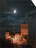 Dracula Castle at Night, Bran Castle, Transylvania, Romania Posters by Russell Young