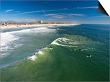 Memorial Paddle Out in Remembrance for Professional Surfer Andy Irons, Huntington Beach, Usa Prints by Micah Wright