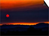 Sunset, Santa Fe, New Mexico Print by Dee Smart