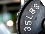 Close-Up of Gym Weightlifting Equipment Posters by Matt Freedman
