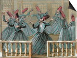 Dance of the Sufi Dervishes, 19th Century Colored Engraving Prints by  Prisma Archivo