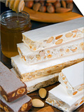 Turron (Spain), Torrone (Italy) or Nougat (Morocco), Confection of Honey, Sugar, Egg White and Nuts Prints by Nico Tondini