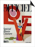 L'Officiel, March 1992 - Love, Le Mot Fétiche d'Yves Saint Laurent Art by Jonathan Lennard