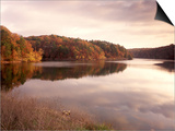 Fall Colors Reflected in Lake, Arkansas, USA Prints by Gayle Harper