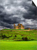 Lightning over Ruins of the Rock of Cashel, Tipperary County, Ireland Prints by  Jaynes Gallery
