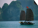 Junk Sailing, Ha Long Bay, Vietnam Posters by Keren Su