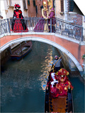 People Dressed in Costumes For the Annual Carnival Festival, Venice, Italy Posters by Jim Zuckerman