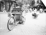 Cyclo in Old Hanoi, Vietnam Art by Walter Bibikow