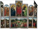 The Ghent Altarpiece or Adoration of the Mystic Lamb Prints by Hubert & Jan Van Eyck