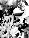 Robert Kennedy Shaking Hands During 1968 Campaign Art