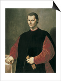Portrait of Niccolo Machiavelli Posters by Santi Di Tito
