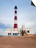 Taguermes Lighthouse, Sidi Mahres Beach, Houmt Souq, Jerba Island, Tunisia Poster di Walter Bibikow