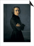 Portrait of Franz Liszt Prints by Henri Lehmann