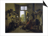 Interior of a Kitchen Prints by Martin Drolling
