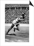 Jesse Owens Setting the 200 Meter Olympic Record at the Olympics in Berlin, Germany, 1936 Art