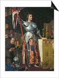 Joan of Arc on Coronation of Charles Vii in the Cathedral of Reims Poster by Jean-Auguste-Dominique Ingres