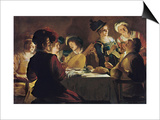 Supper with the Minstrel and His Lute Posters by Gerrit van Honthorst