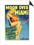 Moon over Miami, Betty Grable, 1941 Prints
