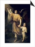 The Guardian Angel Art by Bartolome Esteban Murillo
