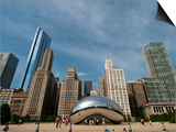 Millennium Park and Cloud Gate Sculpture, Aka the Bean, Chicago, Illinois, Usa Posters by Alan Klehr