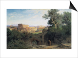 Colosseum Seen from the Palatin (Le Colisée Vu Du Palatin) Posters by Jean Achille Benouville
