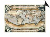 """Theatrum Orbis Terrarum"" (Anntwerp, 1570) Posters by Abraham Ortelius"