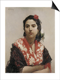 Gypsy Woman Prints by Raimundo De Madrazo Y Garetta