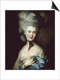 A Woman in Blue (Portrait of the Duchess of Beaufort) Print by Thomas Gainsborough