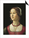 Portrait of a Young Woman Prints by Domenico Ghirlandaio