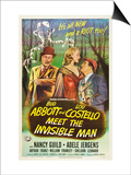 Abbott And Costello Meet the Invisible Man, Bud Abbott, Adele Jergens, Lou Costello, 1951 Art