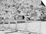 Mildred 'Babe' Didrikson, Running the 80-Meter Hurdles, at the 1932 Olympics Prints