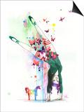 Mini Unicorn Posters by Lora Zombie