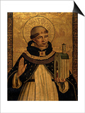St. Thomas Aquinas Presenting the Model of a Church Prints by Pedro Berruguete
