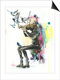 Old Man Punk and Violin Prints by Lora Zombie