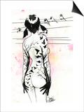 Tattoo Girl Print by Lora Zombie