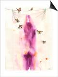 Magenta Girl Prints by Lora Zombie