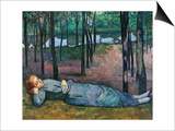 Madeleine in the Bois d'Amour Prints by Emile Bernard
