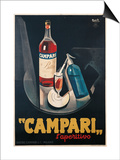 Poster Advertising Campari l'aperitivo Art by Marcello Nizzoli
