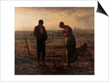 Angelus Posters by Jean-François Millet