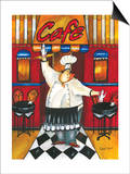 Chef at Cafe Posters by Jennifer Garant