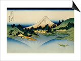 36 Views of Mount Fuji, no. 35: Reflected in Lake Kawaguchi, Seen from the Misaka Pass, Kai Provinc Prints by Katsushika Hokusai