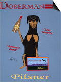 Doberman Pilsner Prints by Ken Bailey