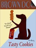 Brown Dog Tasty Cookies Prints by Ken Bailey