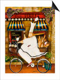 Chef in Paris Print by Jennifer Garant